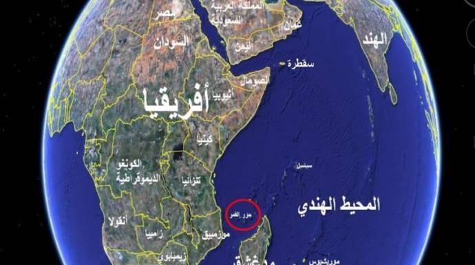 جزر القمر خريطة الوطن العربي